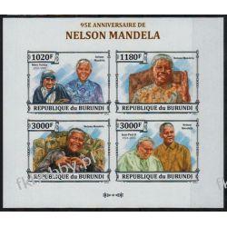 Burundi 2013 ark 3273-76B ** Jan Paweł II Mandela Kolekcje