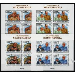 Burundi 2013 ark 3273-76B ** Jan Paweł II Mandela (4) Pozostałe