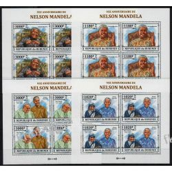 Burundi 2013 ark 3273-76 ** Jan Paweł II Mandela (4)