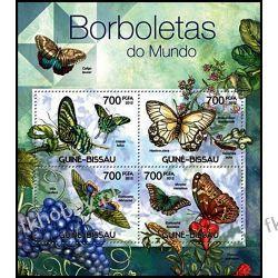 Gwinea Bissau 2012 Mi ark 5887-90 ** Motyl Motyle Marynistyka