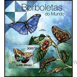 Gwinea Bissau 2012 Mi BL 1040 ** Motyl Motyle Marynistyka