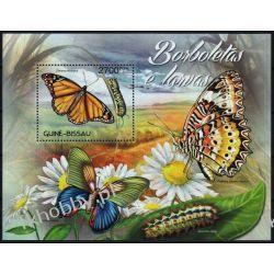 Gwinea Bissau 2012 Mi BL 1095 ** Motyl Motyle Marynistyka