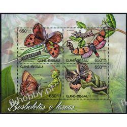 Gwinea Bissau 2012 Mi ark 6182-85 ** Motyl Motyle Marynistyka