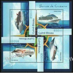 Gwinea Bissau 2012 Mi ark 6279-82 ** Statek Okręty Pozostałe
