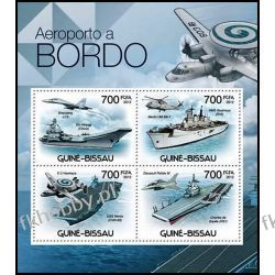 Gwinea Bissau 2012 Mi ark 5897-00 ** Okręt Samolot Marynistyka