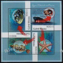Gwinea Bissau 2012 ark 6317-20 ** Okręt Ryby Fauna Marynistyka