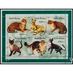 Gwinea Bissau 2001 ark 1522-27 ** Koty Kot Zwierzęta
