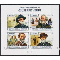 Burundi 2013 ark 3258-61 B ** Giuseppe Verdi Muzyka Pozostałe