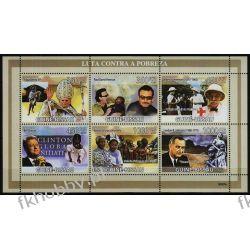 Gwinea Bissau 2018 ark 4204-09** Bono U2 Papież Czerwony Krzyż Nobel Pozostałe