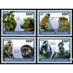 Togo 2010 ark 3484-87 * Małpy Zwierzęta Fauna