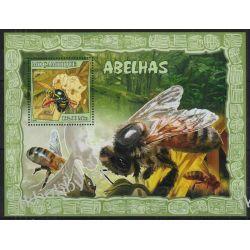 Mozambik 2007 Mi BL 215 ** Pszczoły Owady Fauna