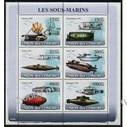 Komory 2008 Mi ark 1910-15 ** Okręt Podwodny Statek Kolekcje