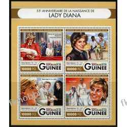 Gwinea 2016 ark 12016-19 ** Jan Paweł II Księżna Diana Kolekcje