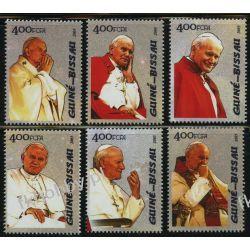Gwinea Bissau 2005 Mi 3065-70 ** Jan Paweł II Papież Ptaki
