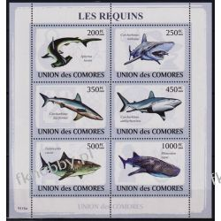 Komory 2009 Mi ark 2156-61 ** Ryby Rekin Fauna