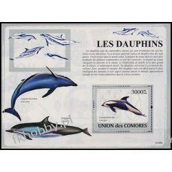 Komory 2009 Mi BL 486 ** Delfiny Delfin Fauna