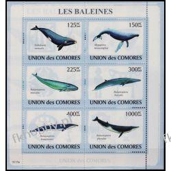 Komory 2009 Mi ark 2121-26 ** Walenie Wieloryb Fauna