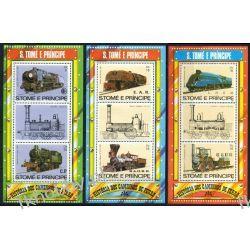 Wyspy Św Tomasza 1982 BL 114-16 ** Lokomotywa Kolej Kolejnictwo