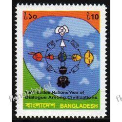 Bangladesz 2001 Mi 781 ** Dialog Wspólne Wydanie Pozostałe