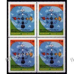 Bangladesz 2001 Mi 781 x4 ** Dialog Wspólne Wydanie Pozostałe