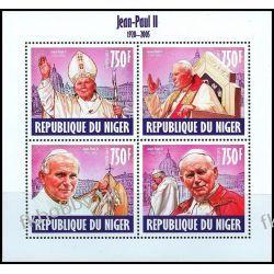 Niger 2013 Mi ark 2486-89 ** Jan Paweł II Papież Religia i Papież