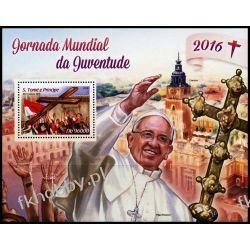 Wyspy Św Tomasza 2016 Mi BL 1211 ** Papież Franciszek Kolekcje