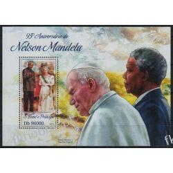 Wyspy Św Tomasza 2013 BL 927 ** Jan Paweł II Mandela Nobel Sport