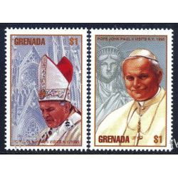 Grenada 1995 Mi 3126-27 ** Jan Paweł II Papież Kolekcje