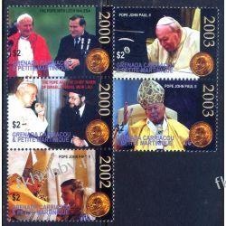 Grenada Grenadines 1995 Mi 4061-65 ** Jan Paweł II Wałęsa Kolekcje