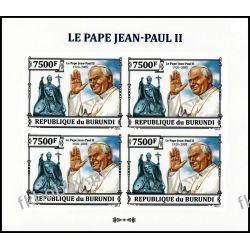 Burundi 2013 ark 3237 B ** Jan Paweł II Papież 4 Kolekcje