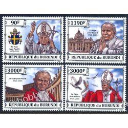Burundi 2013 Mi 3233-36 ** Jan Paweł II Papież Religia i Papież