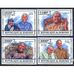 Burundi 2013 Mi 3273-76 ** Jan Paweł II Mandela Religia i Papież