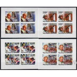 Burundi 2011 Mi ark 2146-49 B ** Jan Paweł II Papież (4) Religia i Papież