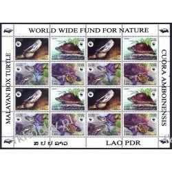 Laos 2004 Mi ark 1927-30 ** WWF Zwierzęta Żułwie Gady i Płazy