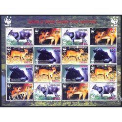 Liberia 2005 Mi ark 5100-03 ** WWF Zwierzęta Sport