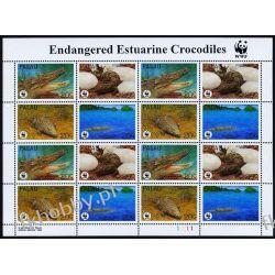 Palau 1994 Mi ark 690-93 ** WWF Zwierzęta Krokodyl Gady i Płazy