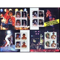 Saint Vincent 2009 BL 688-91 ** Michael Jackson Muzyka Polonica