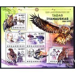Mozambik 2012 ark 6097-02 ** Ptaki Sowa Orzeł Sport