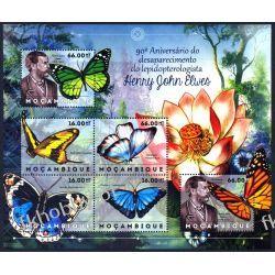 Mozambik 2012 ark 6125-30 ** Motyle Owady Owady