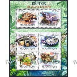 Mozambik 2012 ark 5760-65 ** Krokodyl Żółw Gady i Płazy