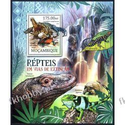 Mozambik 2012 BL 630 ** Krokodyl Kameleon Gady i Płazy