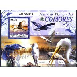 Komory 2009 Mi BL 519 ** Ptaki Ptak Czapla Kolekcje