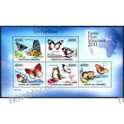 Komory 2011 Mi ark 2971-75 ** Motyl Motyle Owady Kolekcje