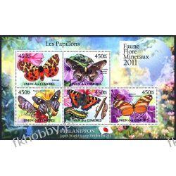 Komory 2011 Mi ark 2976-80 ** Motyl Motyle Owady Kolekcje