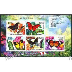 Komory 2011 Mi ark 2981-85 ** Motyl Motyle Owady Kolekcje