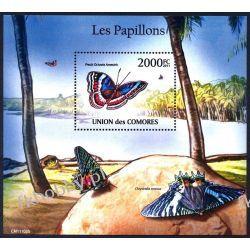 Komory 2011 Mi BL 618 ** Motyl Motyle Owady Owady