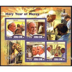 Sierra Leone 2016 Mi ark 6149-52 ** Papież Franciszek Benedykt Religia i Papież