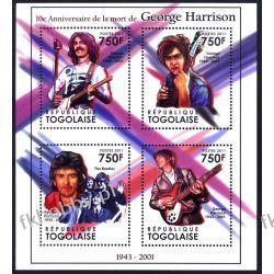Togo 2011 Mi ark 4044-47 ** The Beatles George Harrison Pozostałe