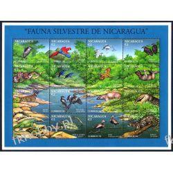 Nikaragua 1994 ark 3418-33 ** Zwierzęta Ptaki Lampart Pozostałe