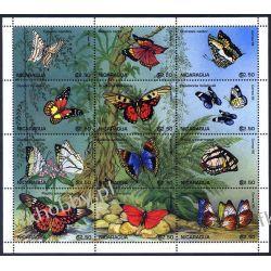 Nikaragua 1995 ark 3621-32 ** Motyle Motyl Owady Owady